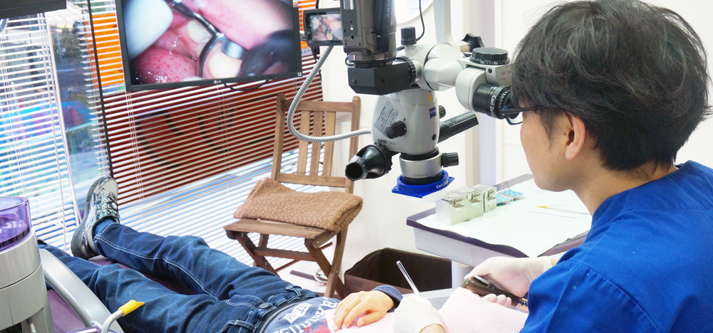 浜松エムアイ歯科の根幹治療の治療風景