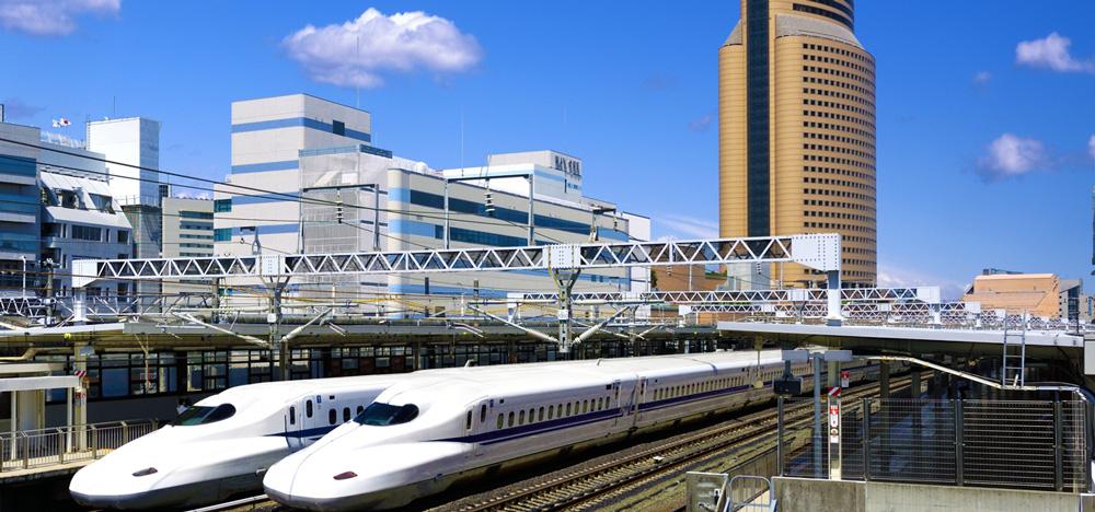 新幹線浜松駅の様子